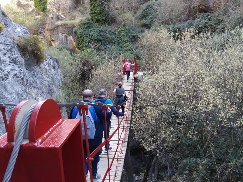 senderismo en los Cahorros de Monachil, en Granada. Una aventura con puentes colgantes con itinerarius.com