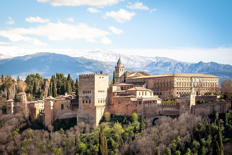 The Alhambra from the Albayzín district